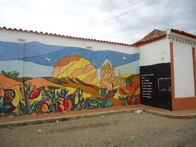 Zdjęcia: Coro, Falcon, Mural niepolityczny, WENEZUELA