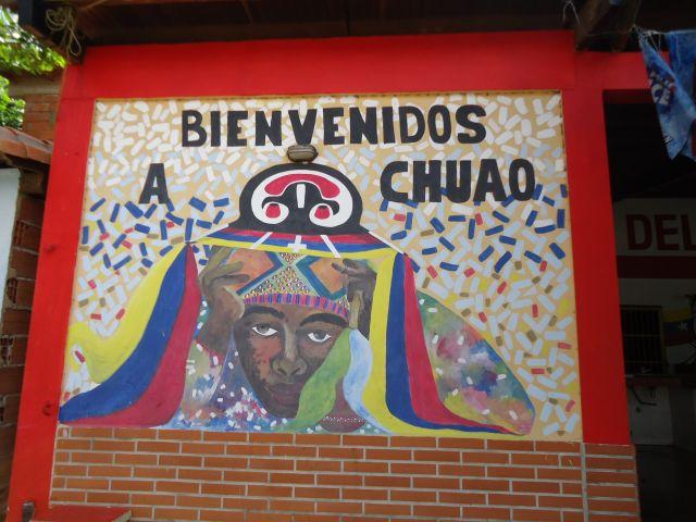 Zdjęcia: Chuao, Carabobo, Mural - Witamy w Chuao, WENEZUELA