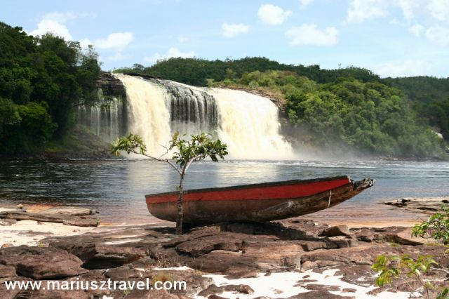 Zdjęcia: Canaima, gran sabana, zepsuta lodka, WENEZUELA