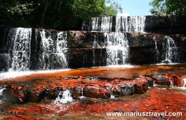 Zdjęcia: quebrada de jaspe, gran sabana, czerwony wodospad, WENEZUELA