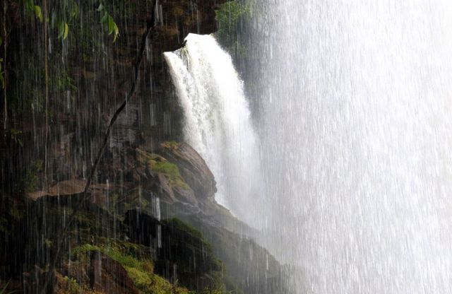 Zdj�cia: Wodospad  SALTO SAPO na rzece RIO CARGO, Canaima, EL Sapito, WENEZUELA
