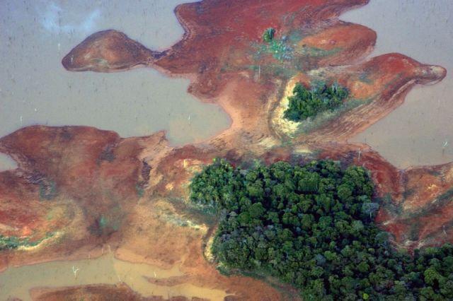 Zdjęcia: Rozlewisko Rzeki ORINOKO, Canaima, Z lotu ptaka, WENEZUELA