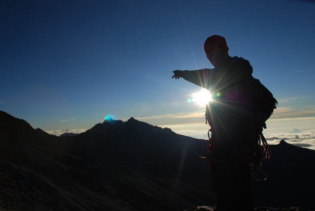 Zdjęcia: Pico Bolivar, Wenezuela , Andy, Slonce wschodzi nad Pico Bolivar, WENEZUELA