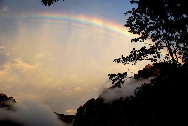 Zdjęcia: przy Salto Angel, Canaima, Park Narodowy Canaima, Tecza nad Gora Diabla, WENEZUELA