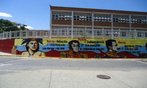 Zdjecie WENEZUELA / Caracas / Caracas / Mural historyczny