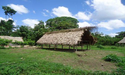 Zdjecie WENEZUELA / Bolivar / Rio Caura / Typowa chata