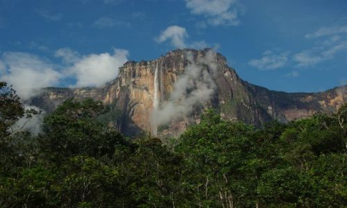 Zdjecie WENEZUELA / Bolivar / Canaima / salto angel o wschodzie