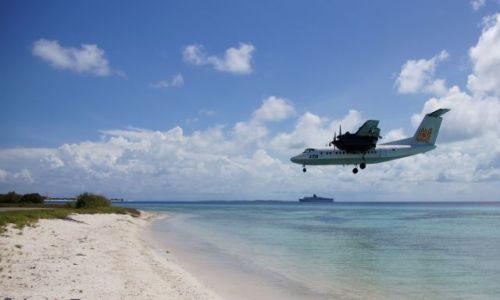 Zdjęcie WENEZUELA / Morze / Karaibskie / Lądowanie nad plażą w Los Roques