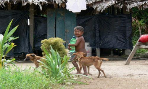 Zdjęcie WENEZUELA / Delta Orinoko / wioska nad rzeką / Szczęśliwy