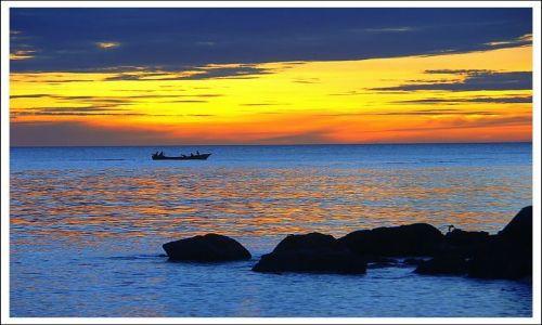 Zdjecie WENEZUELA / Isla Margerita / Playa Zaragoza / niebieski ...