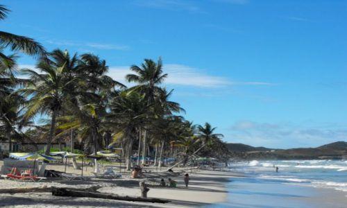 WENEZUELA / Playa El Aqua / fragmnet wybrzeża / Margarita