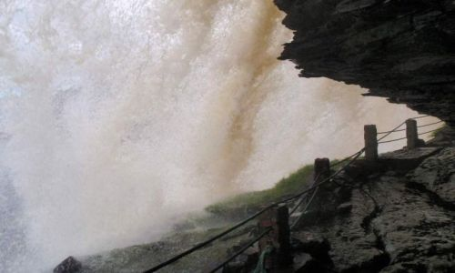 Zdjecie WENEZUELA / Gran Sabana / Canaima National Park / z drugiej strony wodospadu