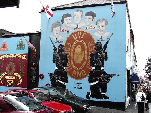 Zdjęcia: Graffitti w dzielnicy Shankill - Belfast, Shankill - Belfast, WIELKA BRYTANIA