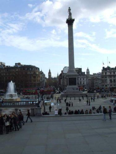Zdjęcia: Londyn, Pomnik Admirała Nelsona na Trafalgar Square, WIELKA BRYTANIA