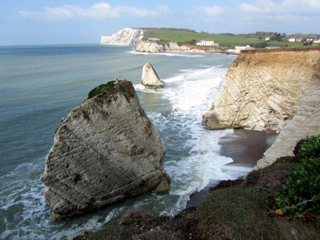 Zdjęcia: Freshwater Bay, Isle of Wight, Miniature Needles, WIELKA BRYTANIA