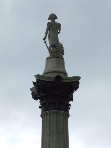 Zdj�cia: Londyn, Statua Nelsona, WIELKA BRYTANIA
