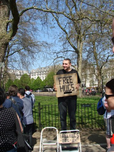Zdjęcia: Londyn, free hugs, WIELKA BRYTANIA