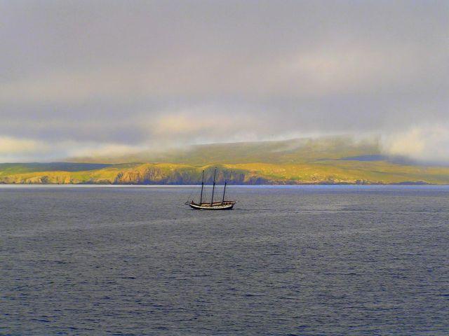 Zdjęcia: Szetlandy, Szkocja, Widok z promu płynącego z Aberdeen do Lerwick., WIELKA BRYTANIA