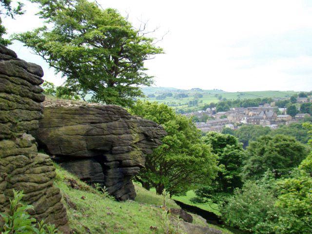 Zdjęcia: okolice  Halifax, West-Yorkshire, formy skalne, WIELKA BRYTANIA