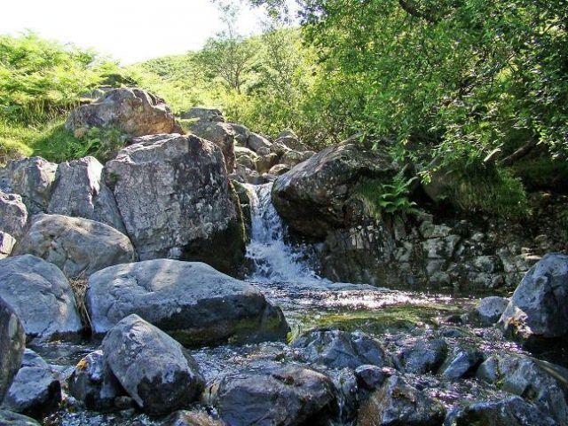 Zdjęcia: Wast water, Cumbria / Lake District, przy gorskim strumieniu, WIELKA BRYTANIA