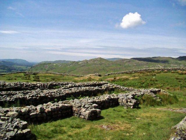 Zdjęcia: Eskdale, Cumbria / Lake District, Hardknott  Castle (ruiny Roman Fort), WIELKA BRYTANIA