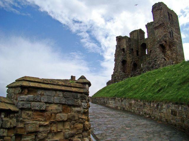 Zdjęcia: Scarborough, North  East   England, zamek w Scarborough, WIELKA BRYTANIA