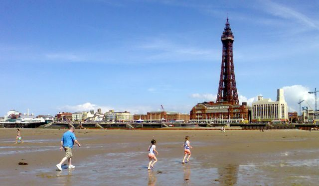 Zdjęcia: Blackpool, Anglia, Plaża, WIELKA BRYTANIA