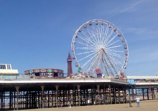 Zdjęcia: Blackpool, Anglia, Koło na molo, WIELKA BRYTANIA