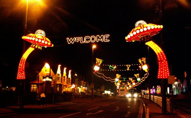 Zdjęcia: Blackpool, Anglia, Iluminacja promenady 10, WIELKA BRYTANIA