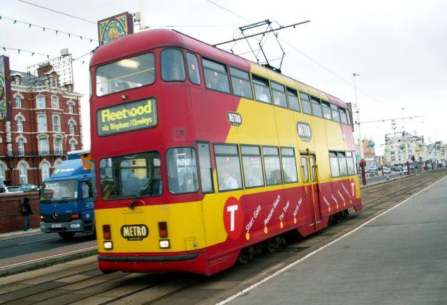 Zdjęcia: Blackpool, Anglia, Tramwaj 02, WIELKA BRYTANIA