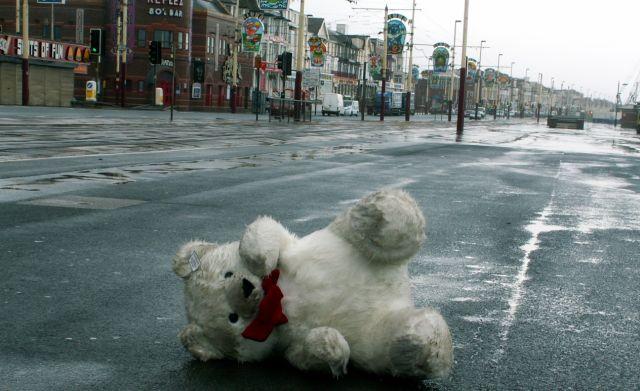 Zdjęcia: Blackpool, Anglia, Miś na promenadzie, WIELKA BRYTANIA