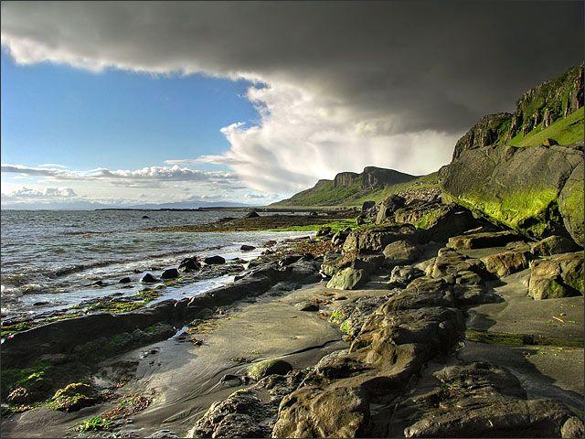 Zdjęcia: Isle of Skye, Szkocja, Highlands, Staffin Bay, WIELKA BRYTANIA