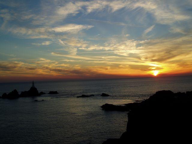 Zdjęcia: Jersey, Wspy Normandzkie, zachód słońca, WIELKA BRYTANIA