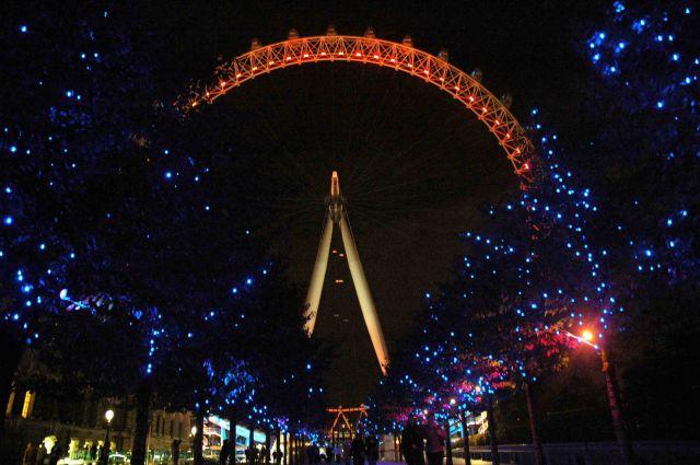 Zdjęcia: londyn, london eye z daleka, WIELKA BRYTANIA
