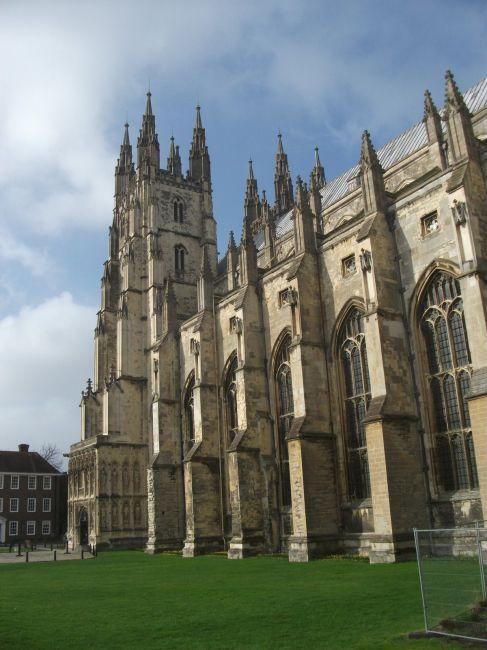 Zdj�cia: Canterbury, katedra , Kent, ... z boku ..., WIELKA BRYTANIA