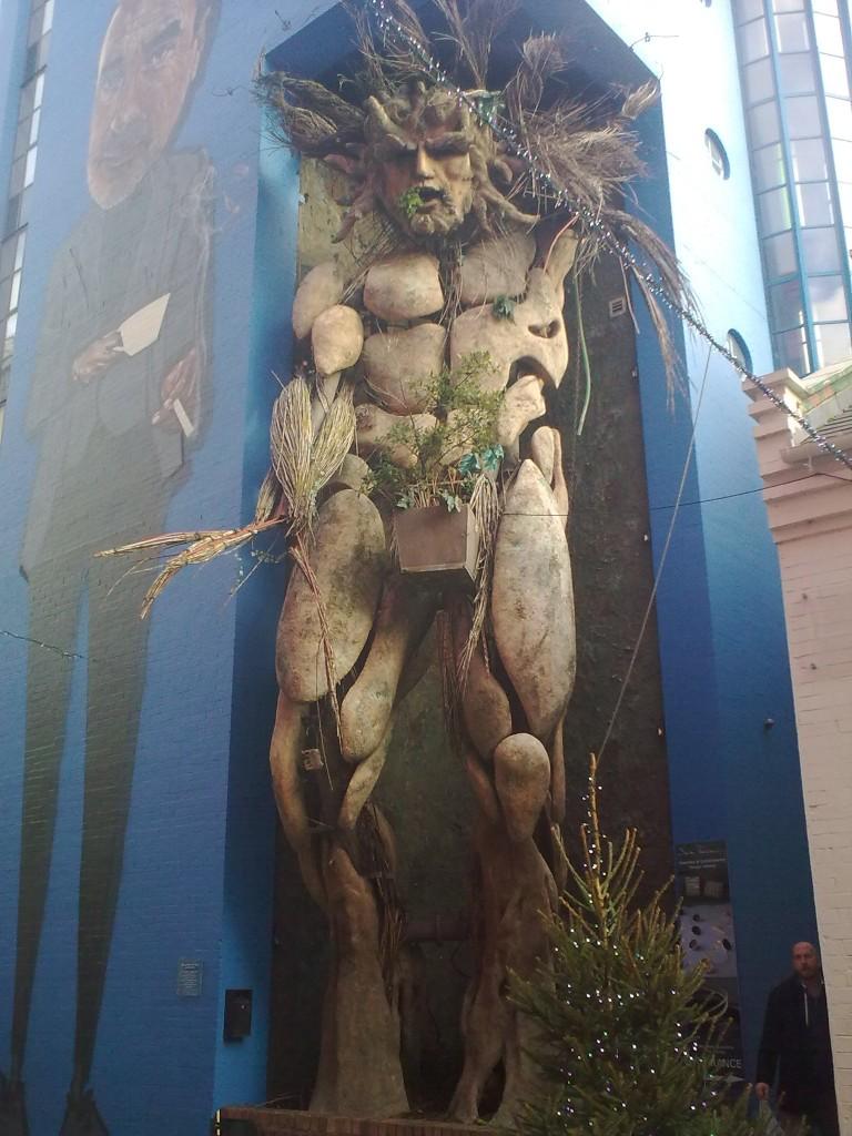 """Zdjęcia: Birmingham, Hrabstwo West Midlands, Rzeźba """"Green Man"""", WIELKA BRYTANIA"""