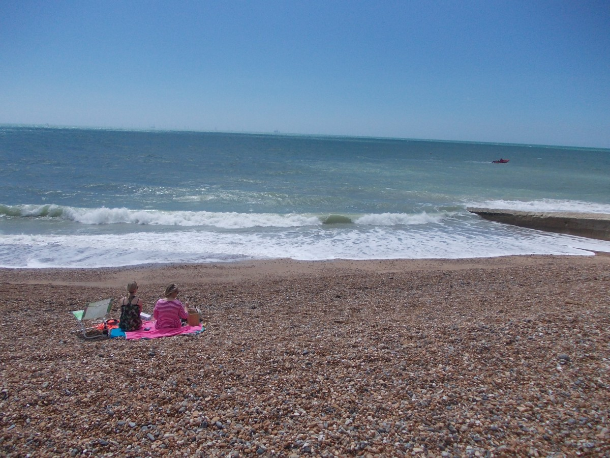Zdjęcia: Brighton, South East England, kamienista plaza, WIELKA BRYTANIA