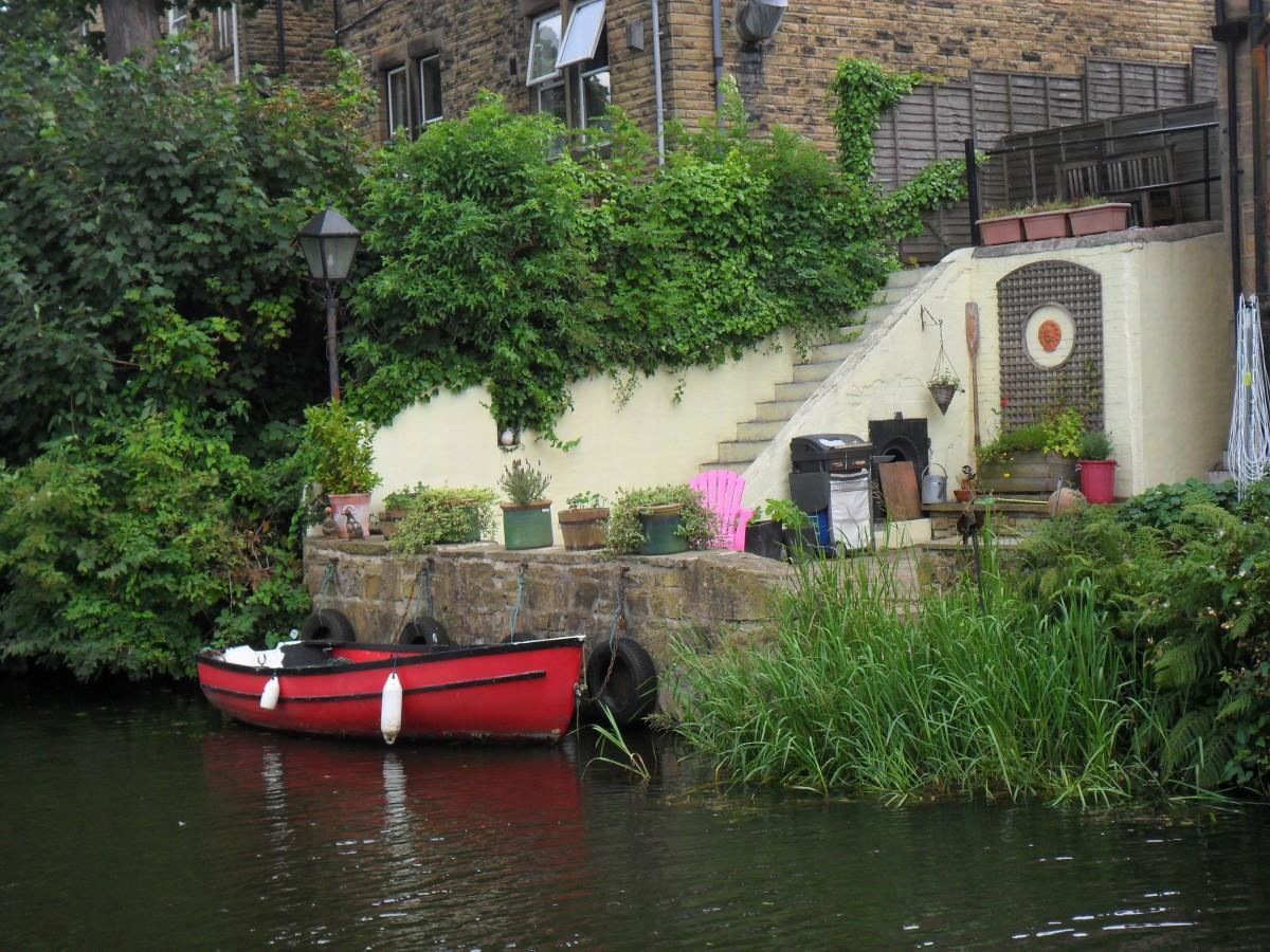 Zdjęcia: Rodley Canal, West Yorkshier, Przydomowa przystań, WIELKA BRYTANIA