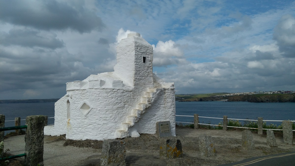 Zdjęcia: . Newquay, Kornwalia, Punkt obserwacyjny z XIV w., WIELKA BRYTANIA