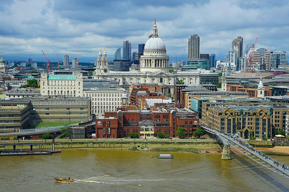 Zdjęcia: Z tarasu Tate Modern, Londyn, Między niebem a wodą, WIELKA BRYTANIA