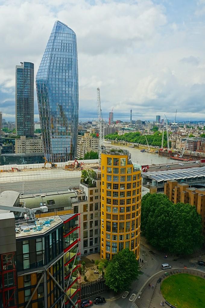 Zdjęcia: Z tarasu Tate Modern, Londyn, W budowie, WIELKA BRYTANIA