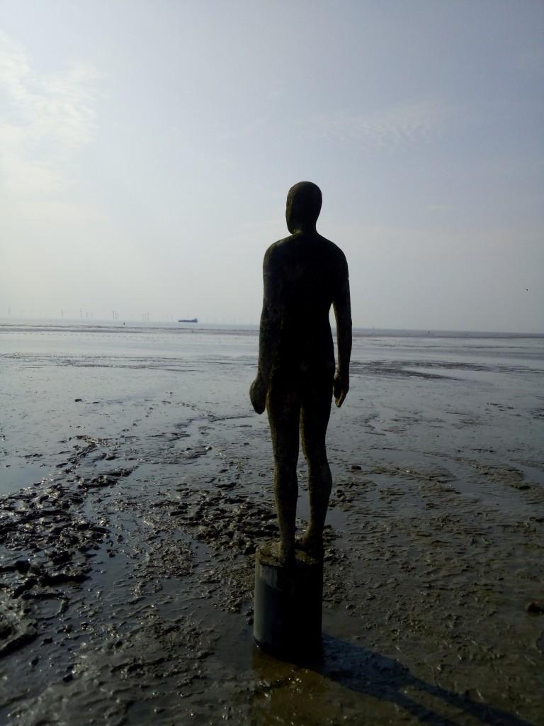 Zdjęcia: Liverpool, Merseyside, Antony Gormley-rzeźba, WIELKA BRYTANIA