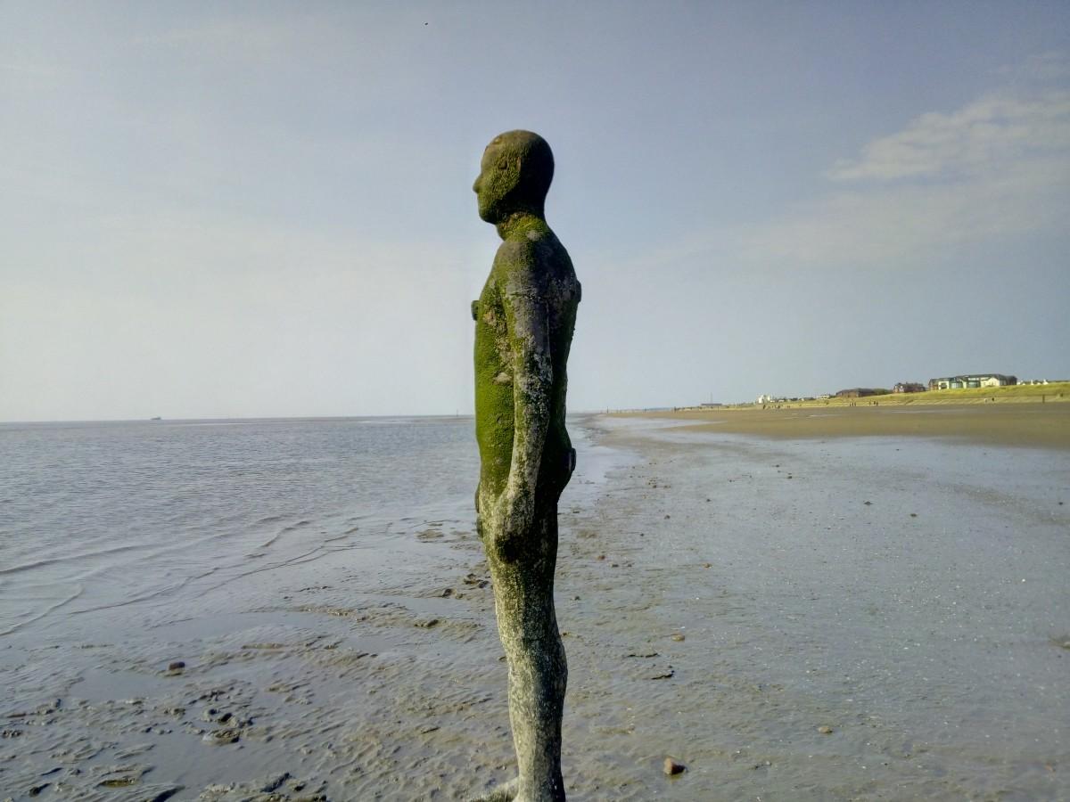 Zdjęcia: Liverpool, Merseyside, Rzeźba -Antony Gormley, WIELKA BRYTANIA