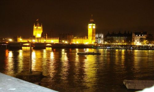 Zdjęcie WIELKA BRYTANIA / London / Central London / Big Ben noca