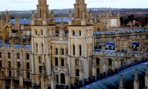 WIELKA BRYTANIA / Srodkowo-Poludniowa Anglia / historyczne centrym Oxfordu / Oxford cz-2
