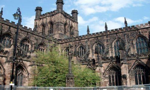 Zdj�cie WIELKA BRYTANIA / Polnocno-zachodnia Anglia / katedra w Chester / Chester-katedra