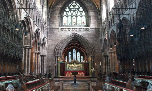 WIELKA BRYTANIA / Polnocno-zachodnia Anglia / katedra w Chester / Chester-katedra