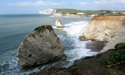 Zdjęcie WIELKA BRYTANIA / Isle of Wight / Freshwater Bay / Miniature Needles