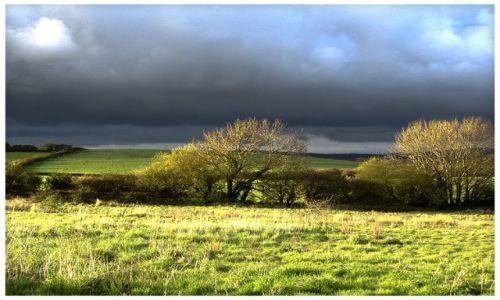 Zdjecie WIELKA BRYTANIA / Isle of Wight / Wroxal / Przed Zachodem Słońca