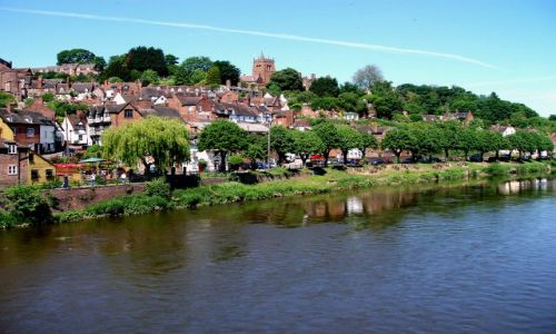 WIELKA BRYTANIA / Shropshire pogranicze z Walia / historyczne miasteczko Bridgenorth / Bridgenorth-Anglia